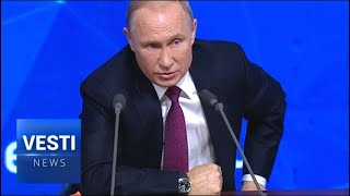 Western Media Accuses Putin on Wanting to Rule the World - Putin's Response Is Priceless!