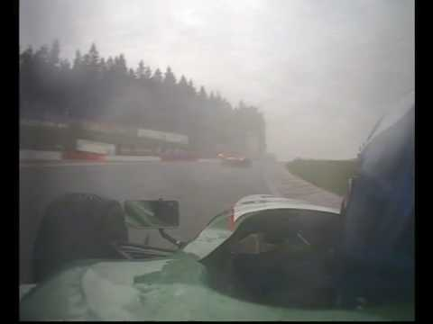 Vibe Smed in Formula Palmer Audi rainy race start at Spa (onboard camera)