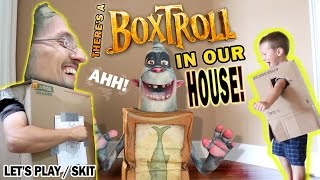 Who let the Boxtroll in here? Chase wanted to watch the Boxtrolls o...