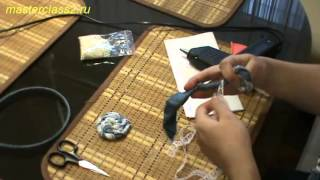 Мастер класс Цветы из ткани: Роза (handmade)(Бесплатно - 15 видео мастер-классов по созданию цветов из ткани. Посмотрите на сайте: http://master.masterclass2.ru/ Мастер..., 2013-04-04T19:21:29.000Z)