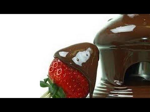 Frutas congeladas con chocolate frozen chocolate fondue - Postres con frutas faciles ...