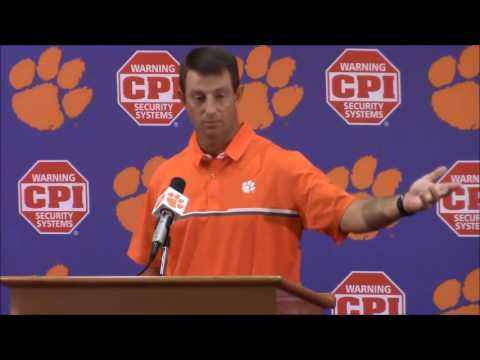 "Download TigerNet.com - Dabo Swinney on national anthem: ""I hate to see what is going on in our country"""