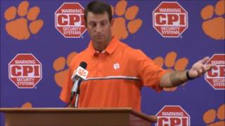 "TigerNet.com - Dabo Swinney on national anthem: ""I hate to see what is going on in our country"""