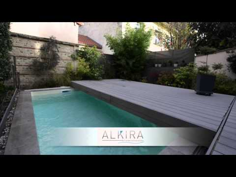 Terrasse mobile pour piscine alkira for Piscine terrasse mobile video