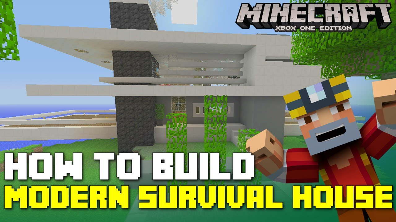 Minecraft Xbox One How to Build Advanced Modern House for