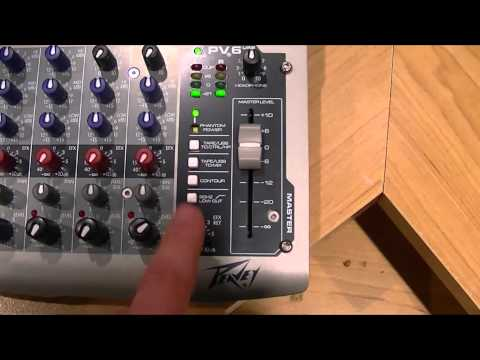 Audio Mixer For Beginners - Peavey PV6 USB Mixer