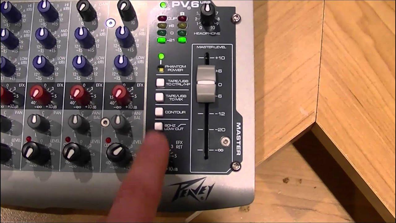 audio mixer for beginners peavey pv6 usb mixer youtube rh youtube com peavey pv6 manual español peavey pv6 schematic
