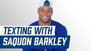Saquon Barkley Reveals His Guilty Pleasure Song 😂 | Texting with Saquon Barkley