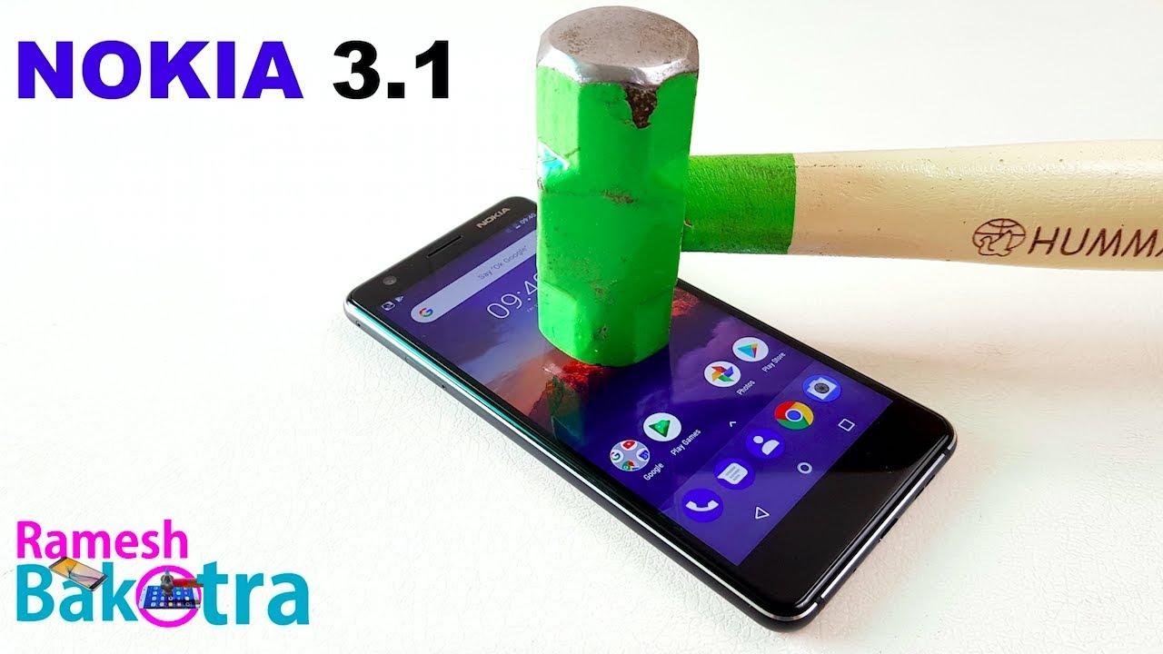 nokia 3 1 screen scratch test gorilla glass youtube. Black Bedroom Furniture Sets. Home Design Ideas