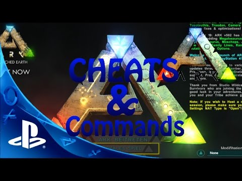ARK PS4 CHEATS - ADMIN BEFEHLE/COMMANDS FÜR ANFÄNGER Let's Play Ark Survival Evolved PS4 Deutsch