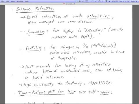 Lecture 3: Seismic Refraction 1
