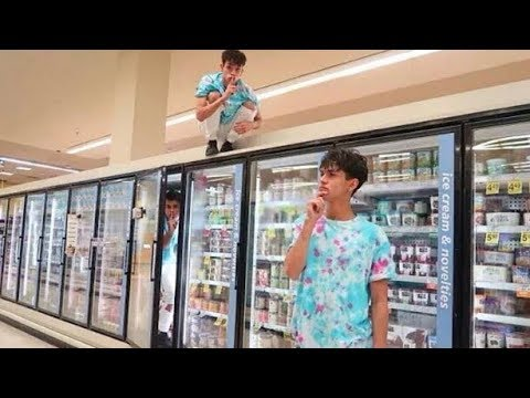 HIDE AND SEEK IN GROCERY STORE!