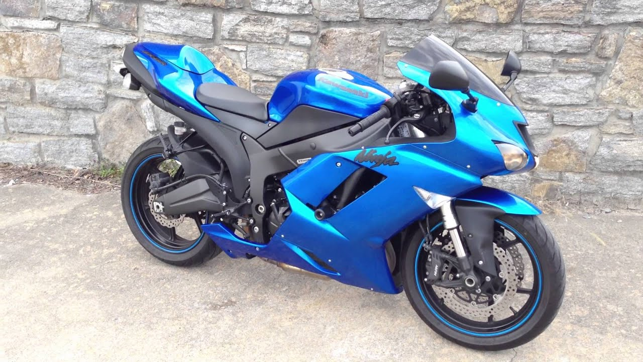Blue Kawasaki Ninja For Sale