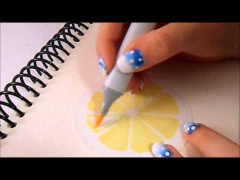 ASMR - Coloring Lemon Lids