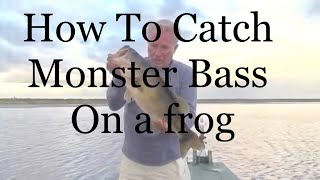 How To Catch monster Bass on a frog