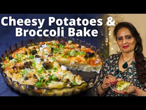 Cheesy Potatoes and Broccoli Bake