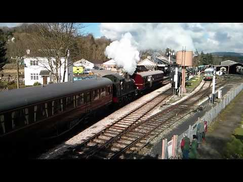 Autotrain with Loco 5542 at South Devon Railway