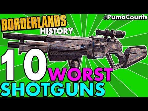 Top 10 Worst Shotguns in Borderlands History! (Borderlands 2, 1, and Pre-Sequel!) #PumaCounts