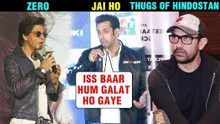 Salman Khan Shah Rukh Khan Aamir Khan REACT On Their FLOP Movies | Zero, Jai Ho, Thugs Of Hindostan