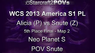 SC2 HotS - WCS 2013 AM S1 PL - Alicia vs Snute - 5th Place Finals - Map 2 - Neo Planet S - Snute