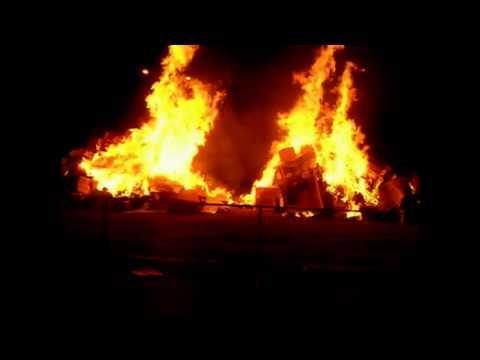 Bisbee High School Homecoming Bonfire 2012.
