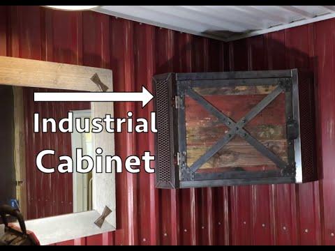 Industrial Rustic Corner Cabinet