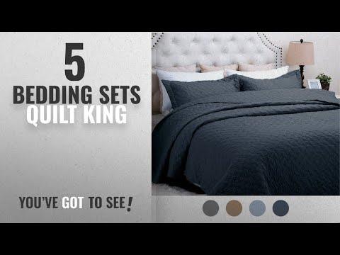 Top 10 Bedding Sets Quilt King 2018: Quilt Set Solid