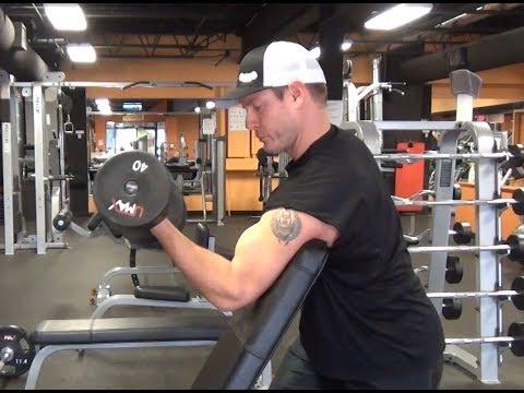 """Scott Curls: 1 Arm Dumbbell """"Larry Scott"""" Curls for MONSTER Biceps"""