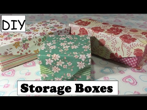 DIY Storage Box Using Empty Box/ Cartons Desk Organizer  #10