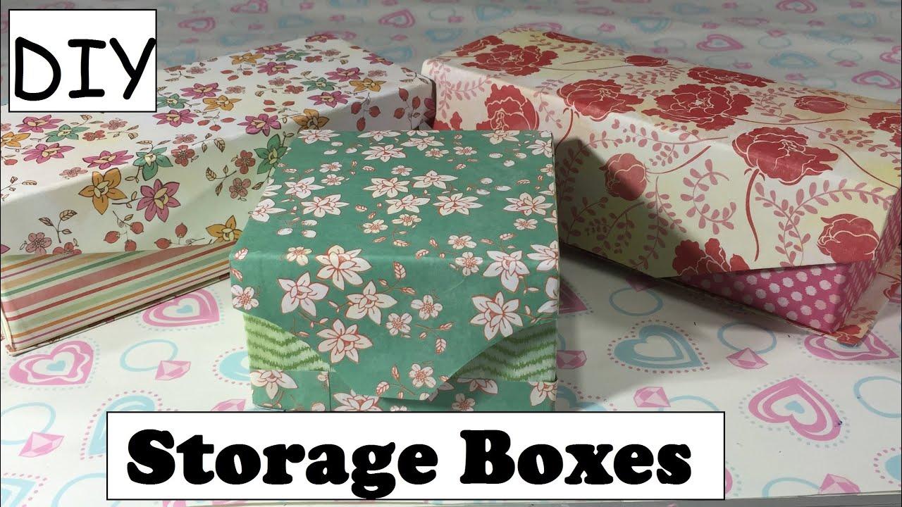 DIY Storage Box Using Empty Box Cartons Desk Organizer