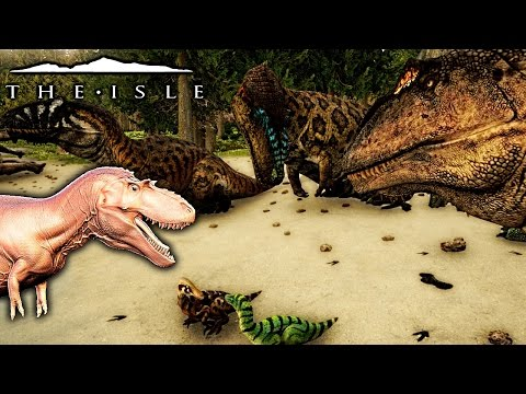 The Isle - ALBERTOSAURUS PREVIEW, GIGA FORCEFULLY ADOPTS CHILDREN & MORE ( Gameplay )