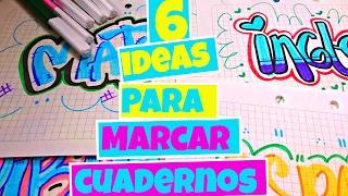 Ideas para MARCAR  cuadernos 💎 Sarish