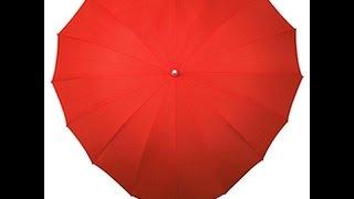 Зонт в виде сердца - оригинальный подарок на свадьбу