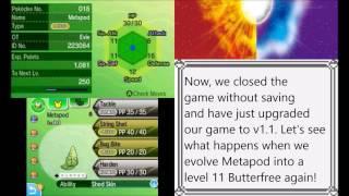 Evolution move learning glitch (Pokémon Sun and Moon v1.0)