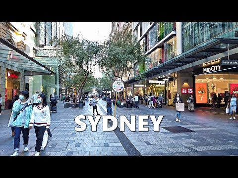 Walking From Australia Square To PITT STREET MALL In Sydney Australia After Lockdown (June 2020)