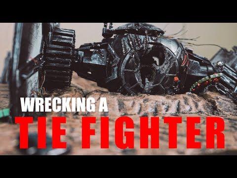 Wrecking a Tie Fighter/ Star Wars