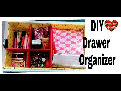 DIY - Drawer Organizer   How to Make a Cardboard Drawer Organizer