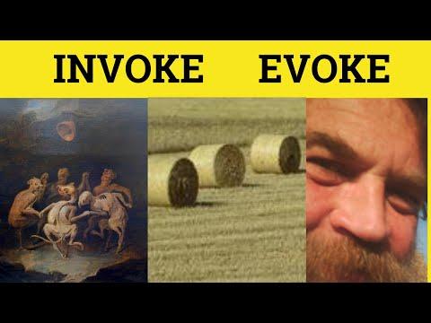 🔵 Invoke or Evoke - Invoke Meaning - Evoke Examples - Invoke Defined