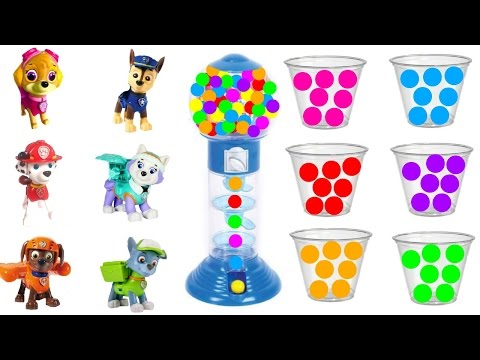 Thumbnail: Best Learning Colors Video for Children: Paw Patrol Collect Gumball Game