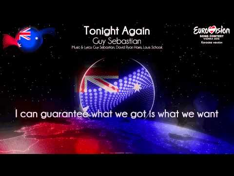"Guy Sebastian - ""Tonight Again"" (Australia) - [Karaoke version]"