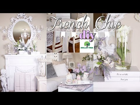 DIY DOLLAR TREE FRENCH CHIC FARMHOUSE FLORAL DECOR