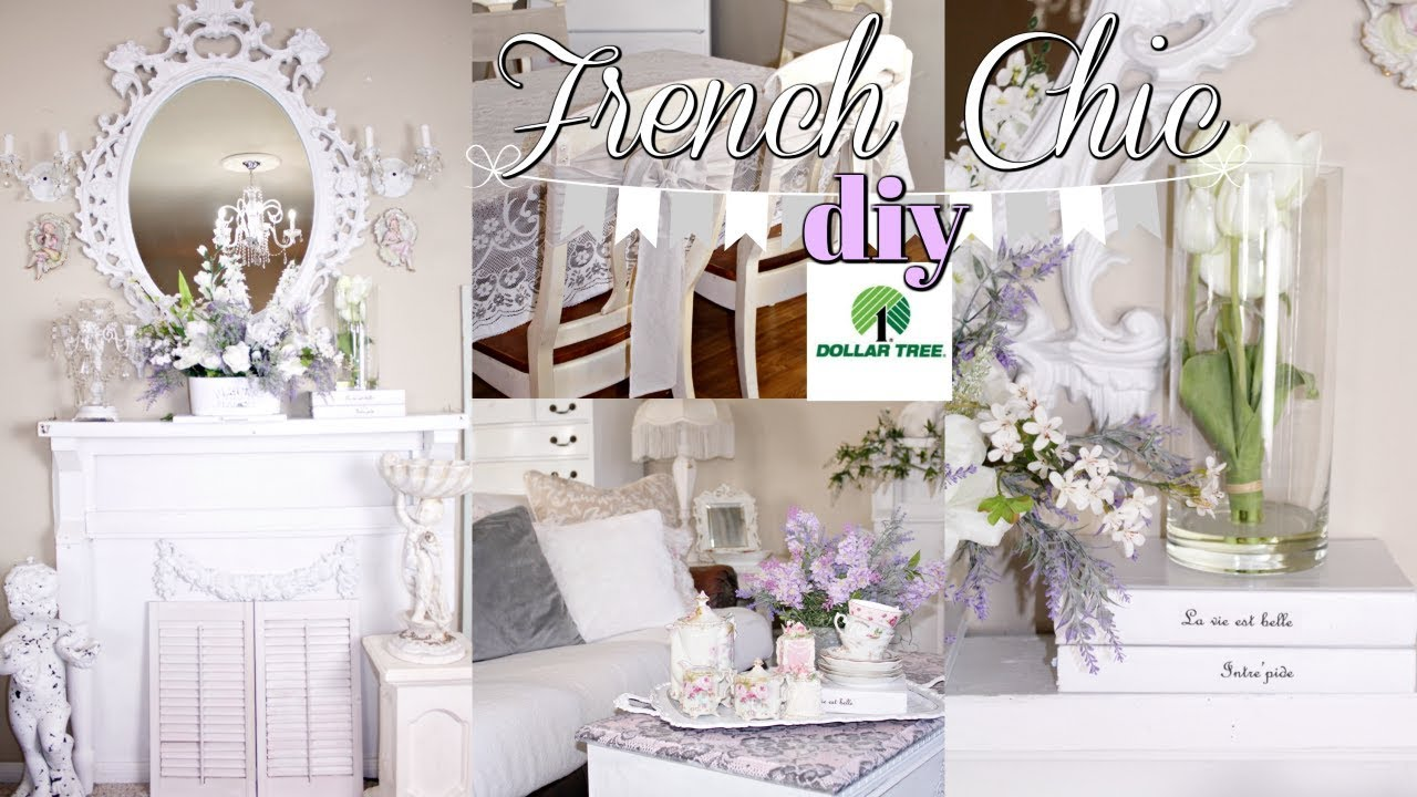DIY DOLLAR TREE FRENCH CHIC FARMHOUSE FLORAL DECOR 💜 FAUX SOFA SLIPCOVER/ CHAIR SASH