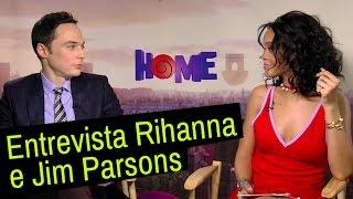 Cada Um Na Sua Casa: Jim Parsons e Rihanna entrevistam um ao outro