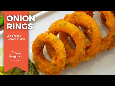 Crispy Onion Rings Recipe | Easy Onion Snacks Recipes Indian | Quick Onion Rings At Home