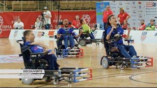 Découverte du Foot fauteuil électrique - Champions d'Exception - Handisport TV