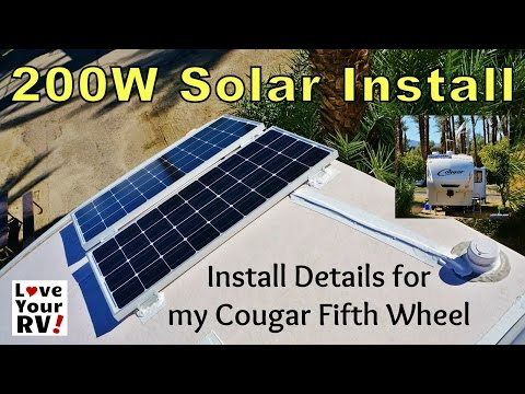 Installing a Renogy 200W Solar Kit on my RV