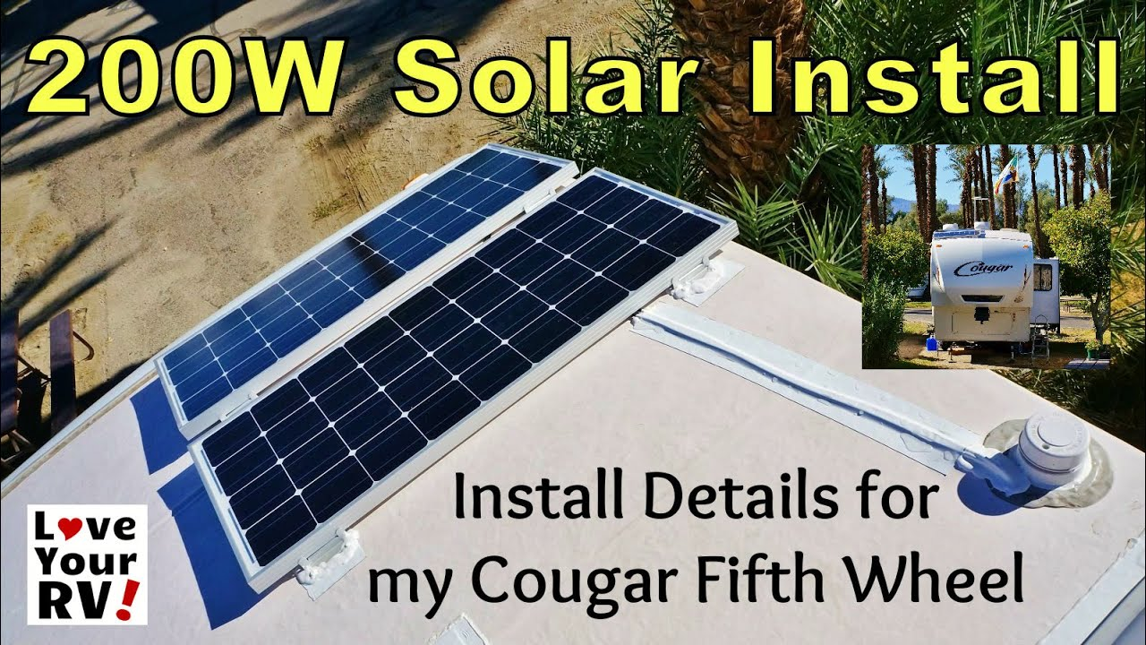 Installing A Renogy 200w Solar Kit On My Rv Youtube
