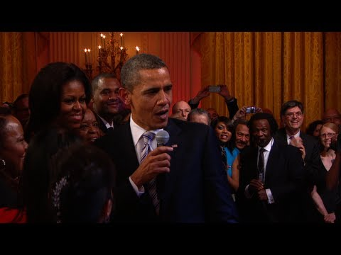"Thumbnail: President Obama Sings ""Sweet Home Chicago"""