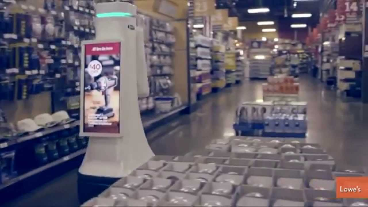 Lowe\'s Testing Robot Sales Assistants in California Store - YouTube