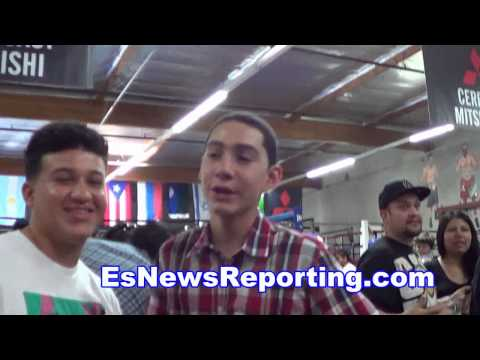 mayweather vs maidana 2 chino fans say he stops mayweather in 7 - EsNews